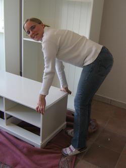 Möbel werden verschoben