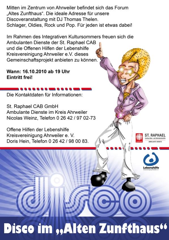 Disco im Alten Zunfthaus am 16.10.2010