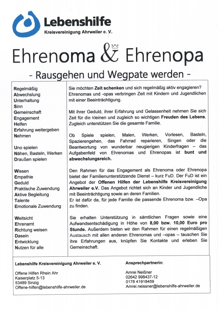 Ehrenomas & Ehrenopas