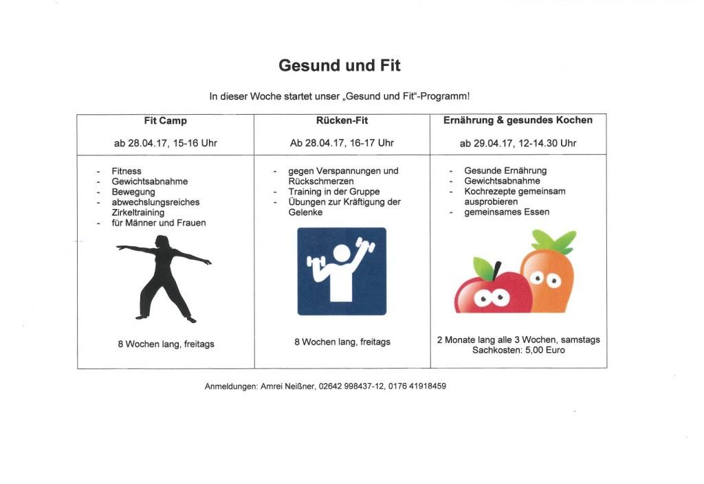 Gesund und Fit-Programm