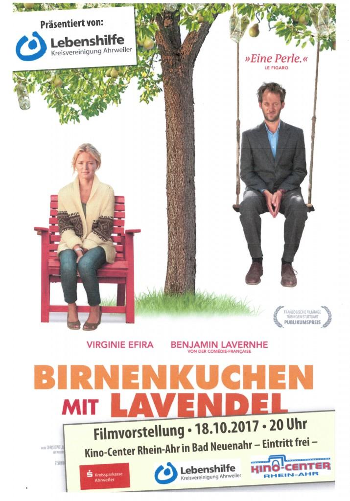 Plakat 'Birnenkuchen mit Lavendel'