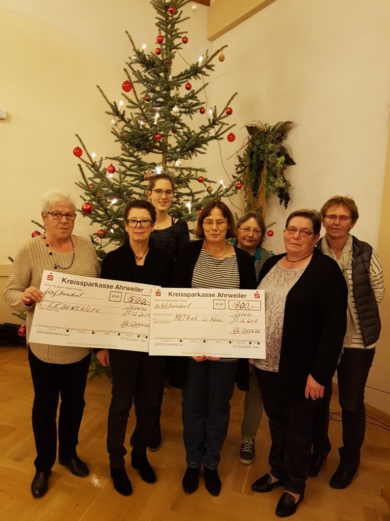 Spendenübergabe 2017 KFD Frauen