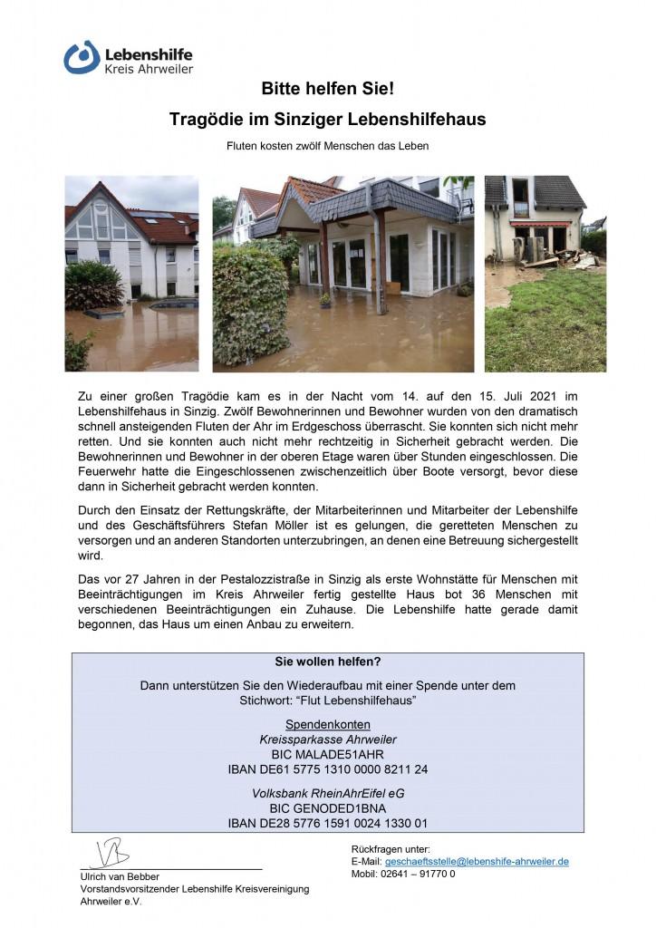 2021-08 Spendenaufruf_Tragödie im Lebenshilfehaus